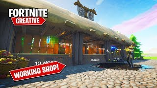 Comment faire un ITEM SHOP WORKING dans Fortnite Creative!