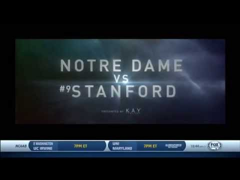 FOX College Football: #25 Notre Dame vs #8 Stanford