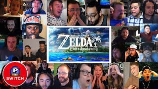 Live Reactions   Zelda: Link's Awakening for Nintendo Switch (25+ Youtubers Synched Compilation)