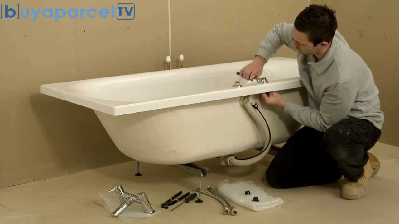 How To Fit Bristan Easy Fit Bath Taps YouTube - Kwik fit bathroom remodel