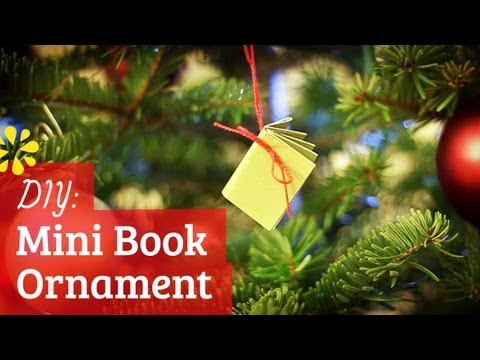 DIY Mini Notebook Christmas Ornament | Sea Lemon