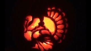 Happy Thanksgiving! Turkey Pumpkin Carving