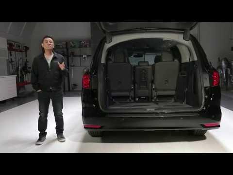 2017 Honda Odyssey >> 2018 Honda Odyssey Touring Cargo Space - YouTube