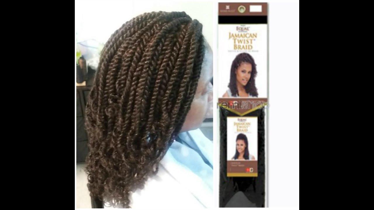 Freetress Equal Jamaican Twist Braid - YouTube