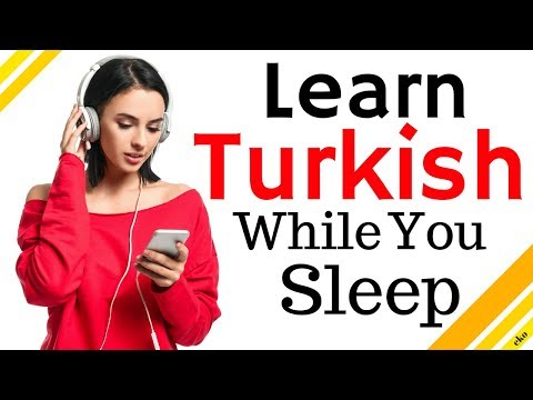 Learn Turkish While You Sleep 😀  Most Important Turkish Phrases and Words 😀 English/Turkish (8 Hour) thumbnail
