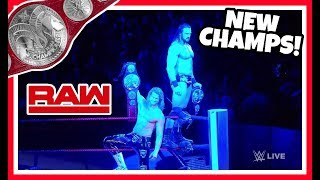 NEW WWE RAW TAG TEAM CHAMPIONS reaction!!! WWE RAW 9/3/18