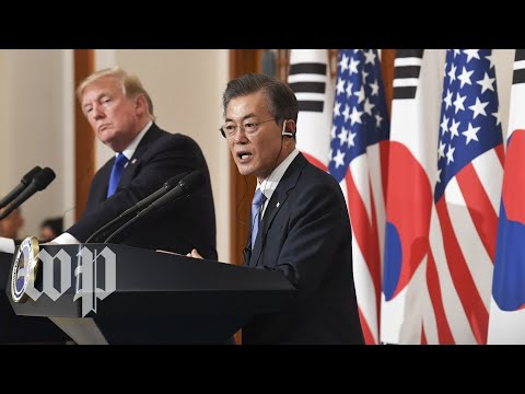 Trump welcomes South Korea's Moon to the White House