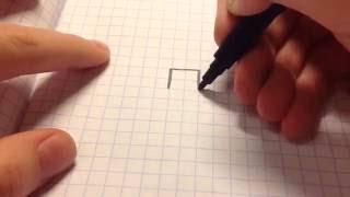 видео Рисуем крестиком