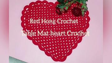 #Table Mat Heart Crochet/코바늘 하트  테이블 매트   part 1/2