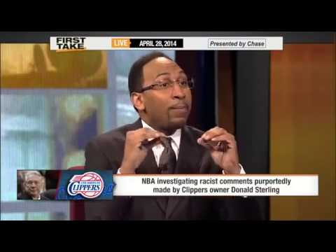 Donald Sterling's Racist Comments Pt  1     ESPN First Take