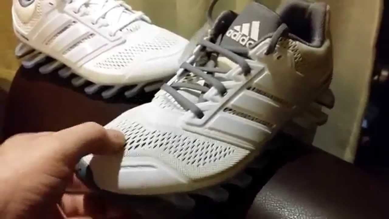 21ab92ef5ac Adidas Spring Blade Drive Performance Limited Edition White Gray - YouTube