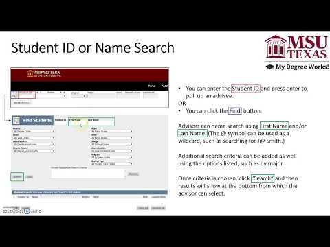 Msu Academic Calendar.Degree Works Faq Help Page Registrar Msu Texas