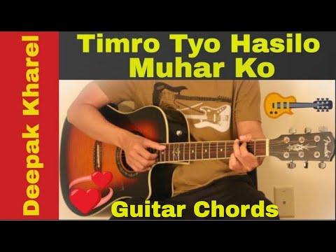 Timro tyo hasilo muhar ko - Guitar chords - YouTube