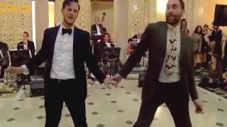 Same sex dance pair perform brilliant swing dance for crowd