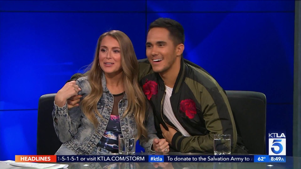 alexa carlos penavega reveal their dwts favorites and talk enchanted christmas