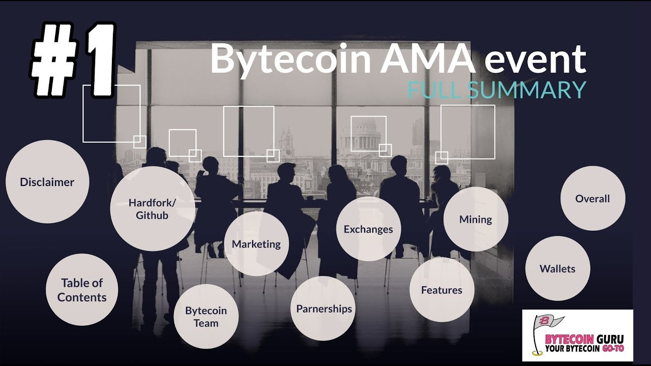 Bytecoin AMA Event [FULL SUMMARY] Pt1 Hardfork, Github, Partnerships