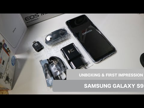 Unboxing & First Impression/ Kesan Awal Samsung Galaxy S9 Indonesia