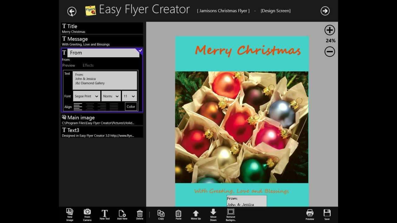 Easy Flyer Creator 4.0 on Windows 8 Creates a Flyer - YouTube