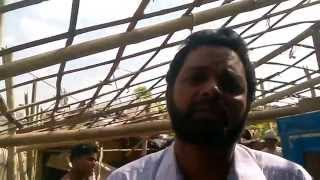 ROHINGIYA REFUGEES CAMP IN DELHI ,ROHINGIYA MASJID (PRAYER ROOM MAKING ) 25-09-2014-