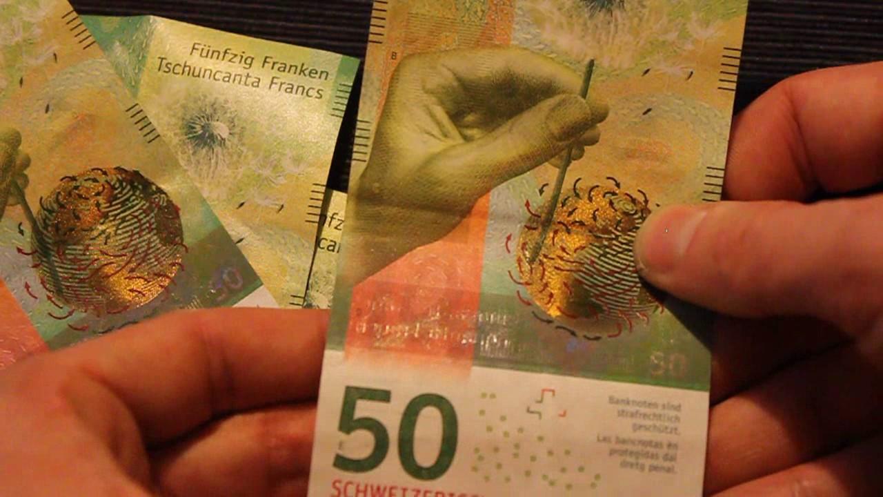 Swiss Francs New 50 Franc Note