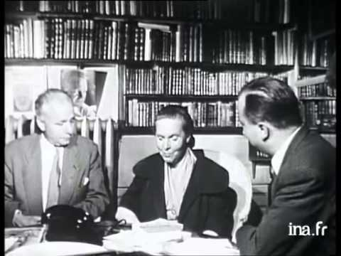 [UEC-Lille] - Interview d'Elsa Triolet et d'Aragon, 28 oct. 1954