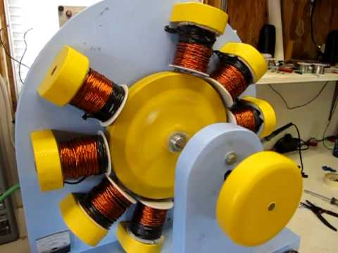 John Bedini Energizer - 10 Coil Build with 7 completed; 5 ...