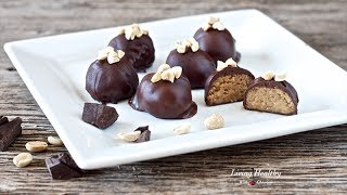 Chocolate Covered Peanut Butter Cookie Balls | Living Healthy With Chocolate