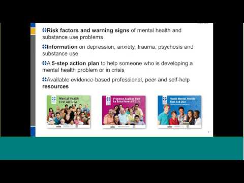 An Overview on Mental Health First Aid Program- 6.29.16