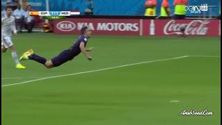 هدف فان بيرسي على اسبانيا - عصام الشوالي كأس العالم 2014 {HD}