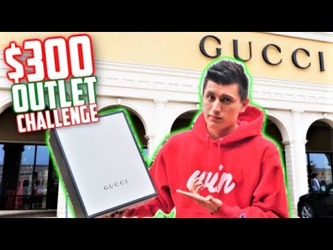 WHAT CAN $300 BUY YOU at GUCCI OUTLET? GUCCI SHOPPING CHALLENGE!