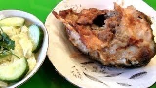 Как жарить рыбу на сковороде ★ жареный карп