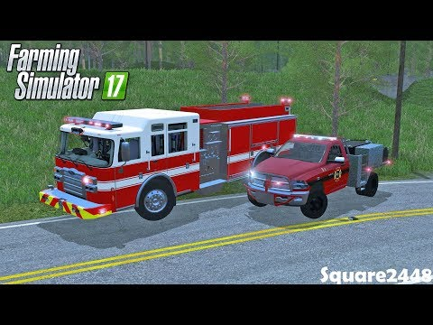 Fire Rescue | Brush Fire | RV On Fire | Brush Truck | Fire Engine | Throwback | Farming Simulator 17