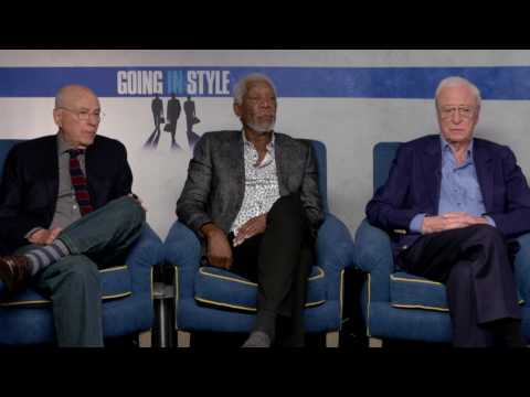 Going In Style: Exclusive Movie Interview with Morgan Freeman, Michael Caine, and Aaron Arkin