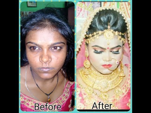 dark skin bridal makeup 😊 { Hindi }2017