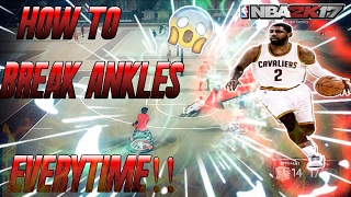 NBA 2K17: SECRETS TO GETTING ULTIMATE DRIBBLE GOD ANKLE BREAKERS! BEST ANKLE BREAKING MOVES & COMBOS