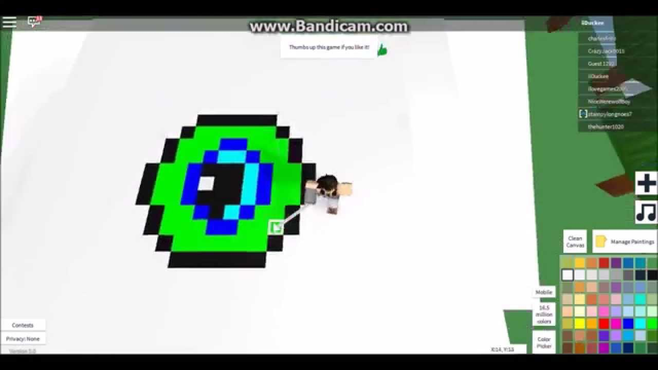 how to draw a pixel fox on roblox
