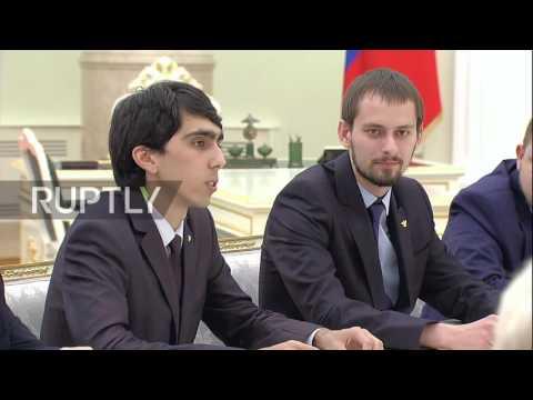 Russia: Teacher gets nervous after Putin asks how much he earns