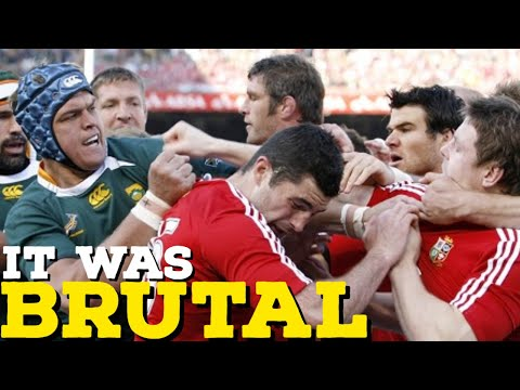 Most Violent Rugby Tour | Lions Vs South Africa 2009 [ Big Hits, Fights And Tries ]
