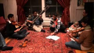 KhansStrings - Tere Bina (Guru) Instrumental on violins and tabla with Pratha Pratiam Roy sitarist