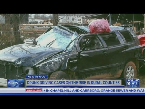 Data shows alcohol-related crashes in rural NC counties on the rise