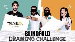BLINDFOLD DRAWING CHALLENGE! ft TEAM RANGREZA | PARHLO