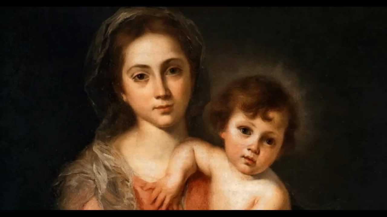 """""""La Virgen con el Niño"""" Murillo. Galleria Palatina. Florencia"""