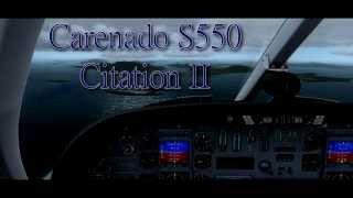 fsx p3d ᴴᴰ carenado s550 citation ii review