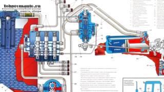 Гидравлическая схема экскаватора