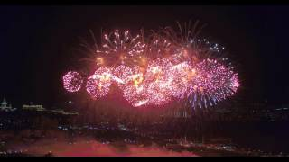 Салют 9 мая 2016 года в Москве с квадрокоптера. День победы. Поклонная Гора.
