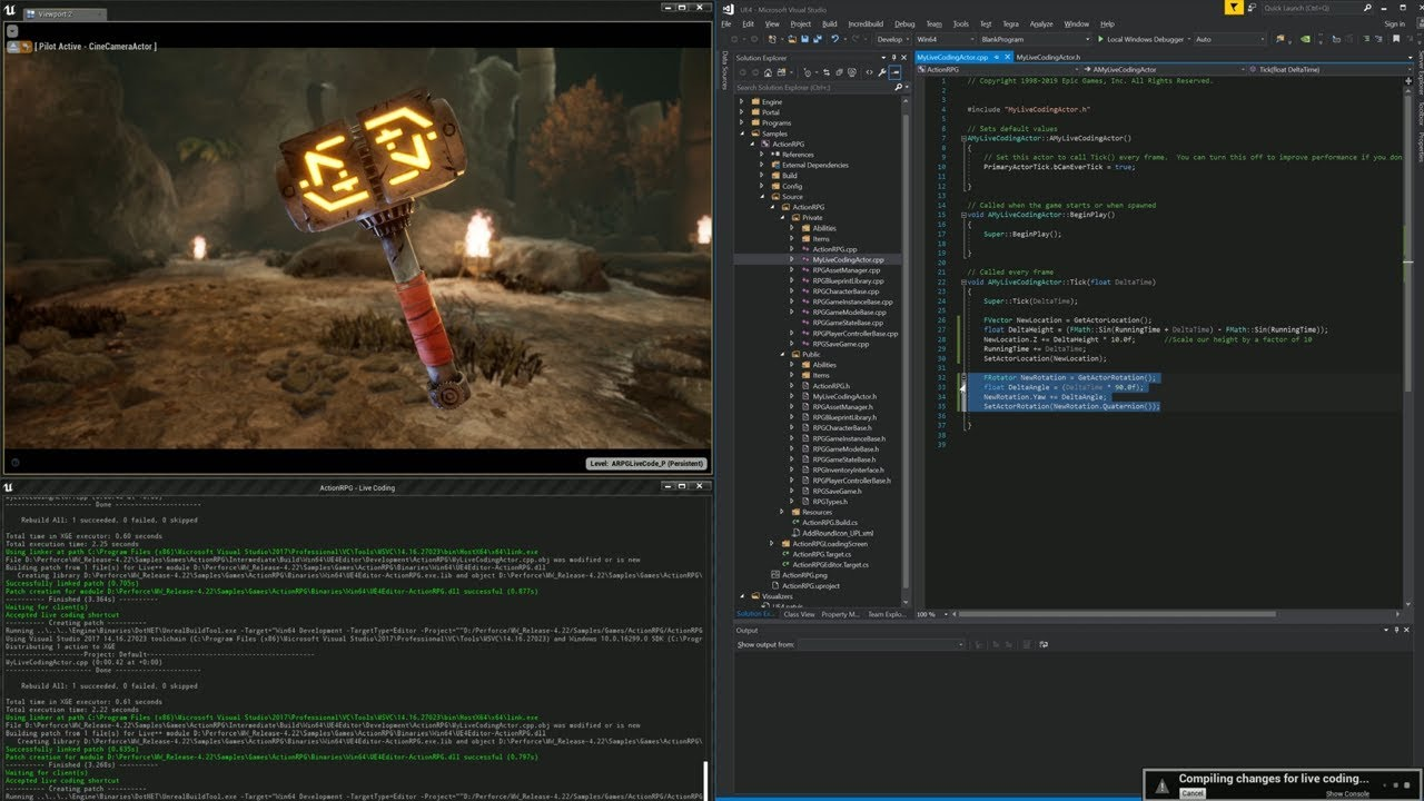 Unreal Engine 4 22 Release Notes | Unreal Engine Documentation