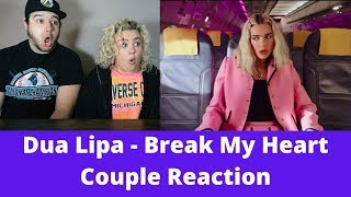 Dua Lipa - Break My Heart (Official Video) | COUPLE REACTION VIDEO