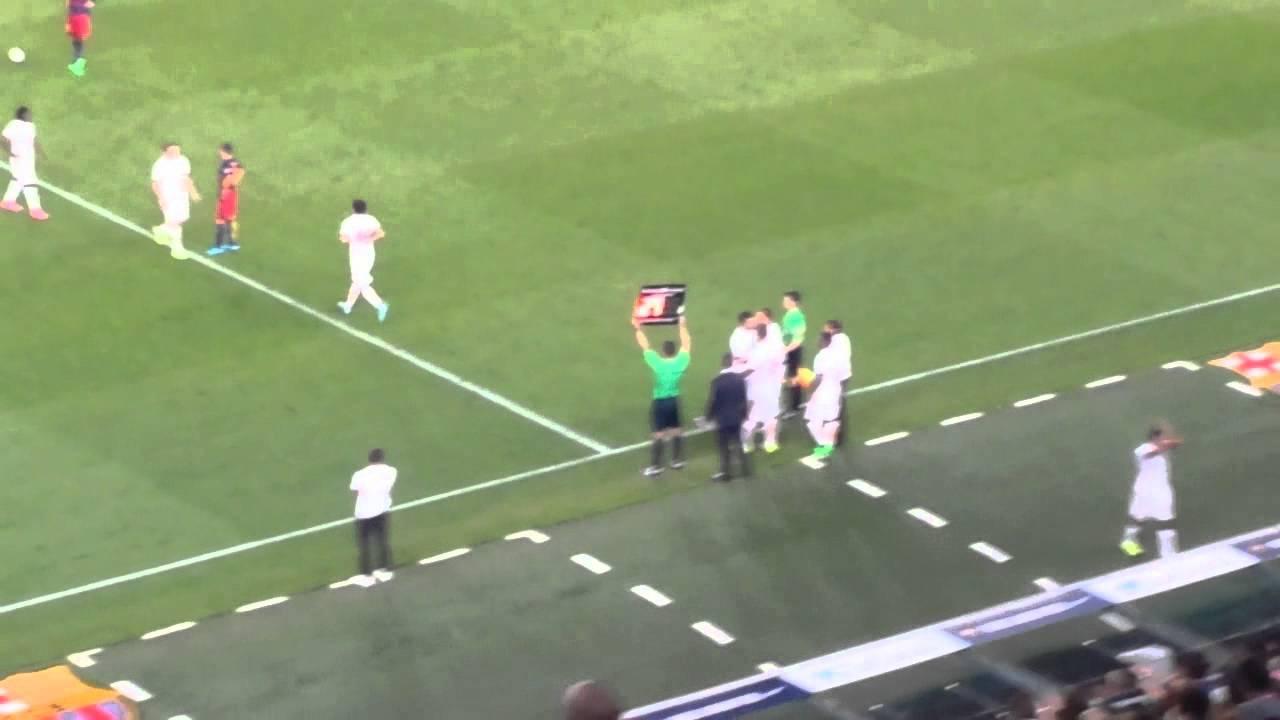 Juan Gamper 2015 FC Barcelona-AS Roma 3-0 Ingresso in campo di Francesco Totti e Daniele De Rossi