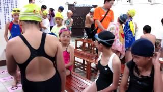 101年縣長盃游泳比賽50m自由式檢錄