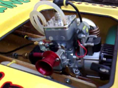 Rc Boats Engines Quickdraw 35 Cc Youtube